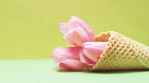 アイスクリームに見立てた花